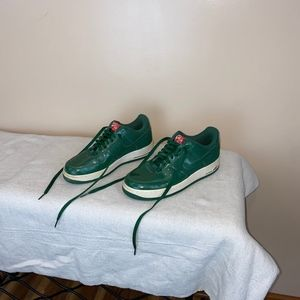 Nike Air Force 1 Green Patent Leather EUC Size 8